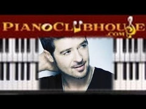 """♫ How to play """"LOST WITHOUT YOU"""" (Robin Thicke) - piano tutorial lesson ♫"""