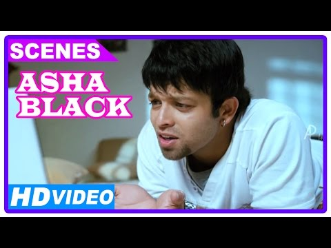 Asha Black Movie Scenes HD  Arjun Lal meets Ishita Chauhan online   Sarath Kumar
