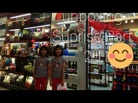 Unboxing SURPRISE Part 2 By #Twins Adlyn & Adriana ( Ft.RIKY)