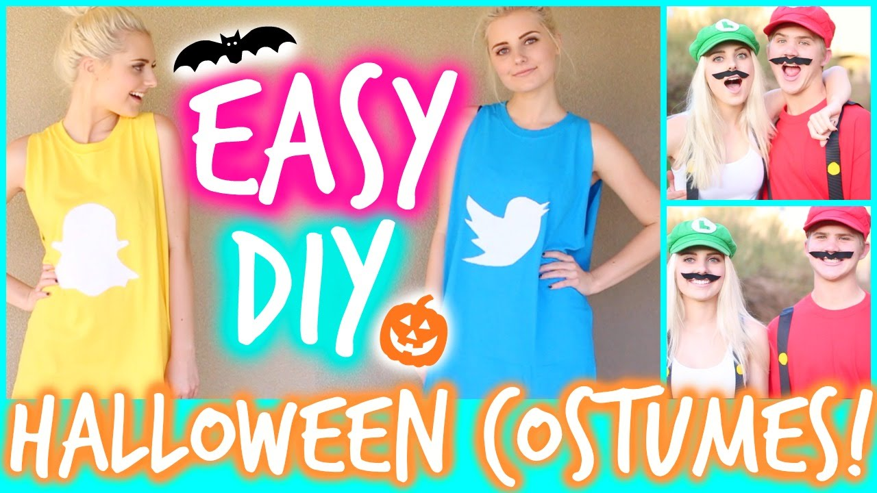 Easy funny diy halloween costumes aspyn ovard youtube solutioingenieria Choice Image