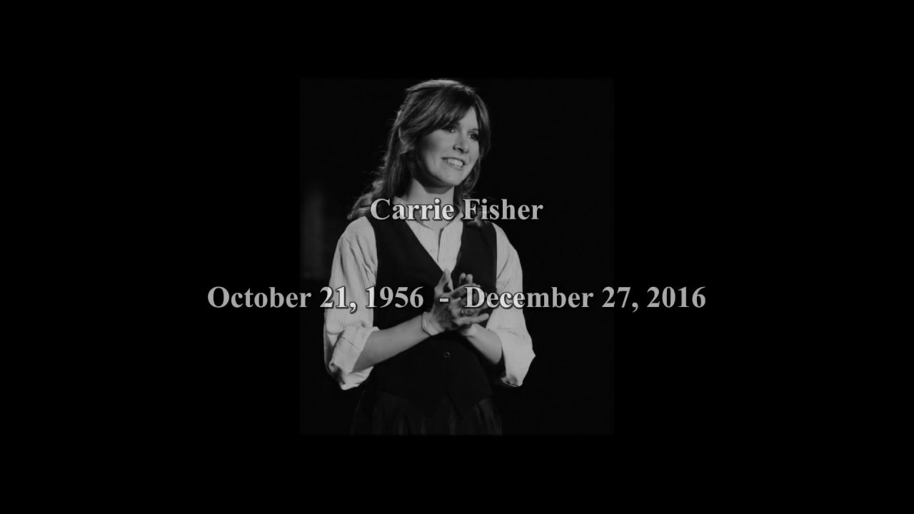 Resultado de imagem para in memory of our princess Carrie Fisher