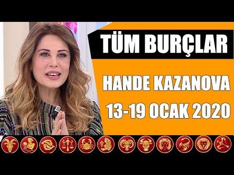 TÜM BURÇLAR | 13 Ocak - 19 Ocak 2020 | Hande Kazanova'dan Haftalık Burç Yorumları