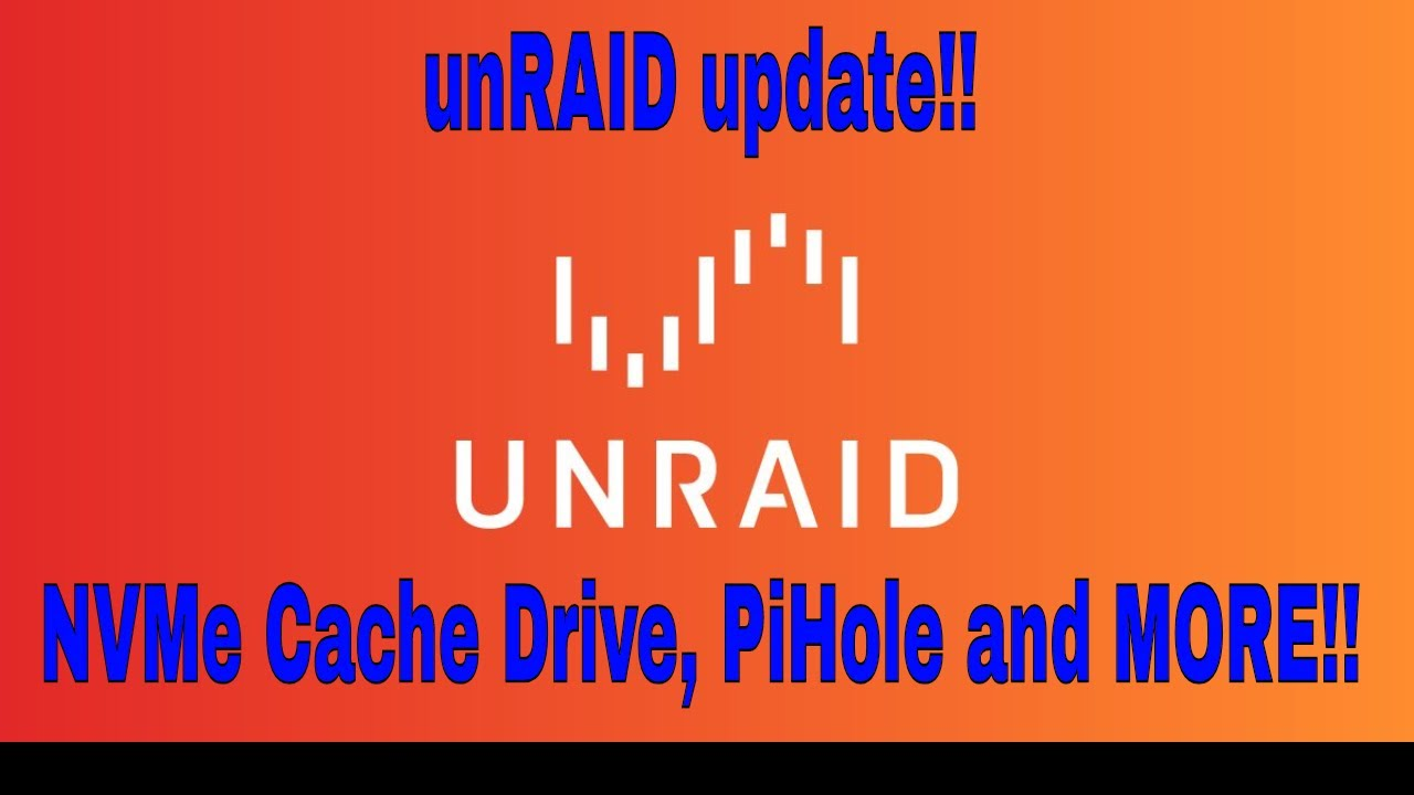 HP ProLiant unRAID server updates!! Cache drive and PiHole