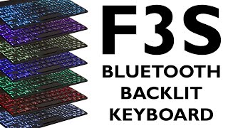 unboxing of a f3s backlit 10 bluetooth keyboard