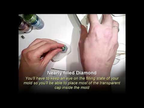 UV Resin, glowing Diamond ... Making of