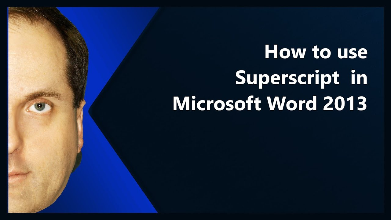 microsoft kb article template - how to use superscript in microsoft word 2013 youtube
