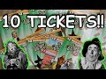 10 WIZARD OF OZ LOTTERY TICKET SCRATCH OFFS!!..$20,000 TOP PRIZE!!