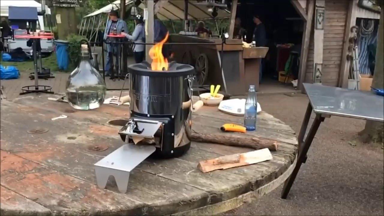 Cocina De Biomasa Rocket Petromax Rf33 Youtube