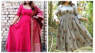 Latest plus size Kurtis for women,xxl kurti designs,kurti for fat women