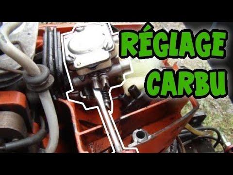 régler un carburateur a membrane sur un moteur 2 temps - youtube