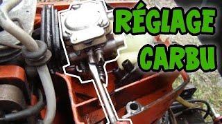 Régler un carburateur a membrane sur un moteur 2 temps