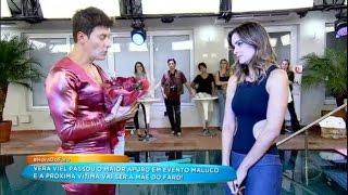 Vera Viel se emociona com declaração de amor de Rodrigo Faro