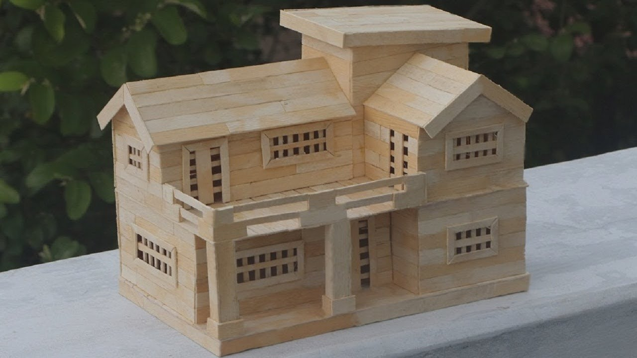 Popsicle stick house instructions choice image form 1040 for How to build a small house step by step