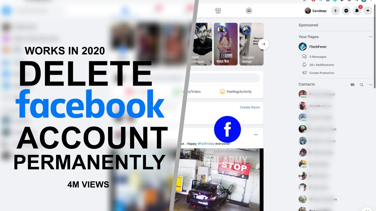 How to delete facebook account permanently easy way youtube ccuart