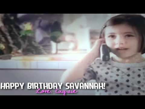 Savannah Paige Rae 8th Bday FromCaysie USA