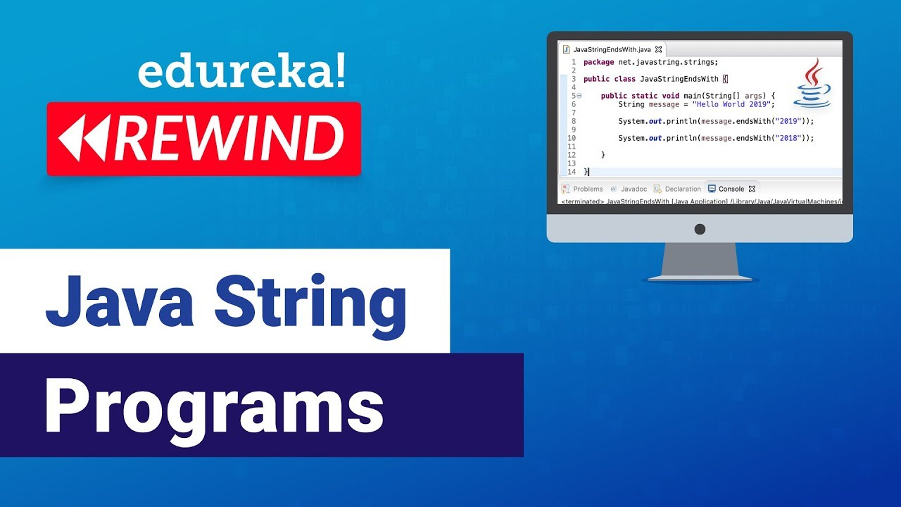 Java String Programs For Beginners | Java String Examples | Java Training