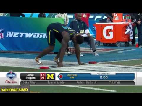 Jabrill Peppers | 2017 NFL Combine 40 Yard Dash & All Drills | NFL Highlights HD