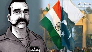 Indian Pilot Abhinandan Release Ceremony Wagha Border   SAMAA TV