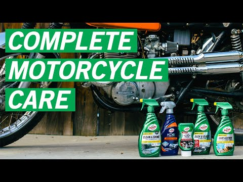 How to Use the Ultimate Motorcycle Cleaning Kit   Turtle Wax