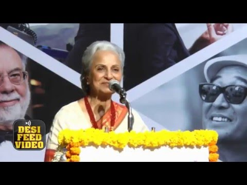 ' Waheeda Rehman ' Receives Lifetime Achievement Award at International Film Festival 2016