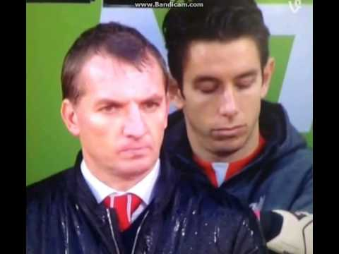 Even Liverpool's bench would rather sleep through this! Brad Jones sleep on the bench!