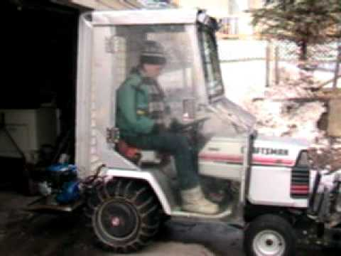 1988 craftsman tractor with recycled cab YouTube – Garden Tractor Cab Plans