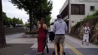 Downtown HIMEJI Japan - Walking in City to Castle - 2018