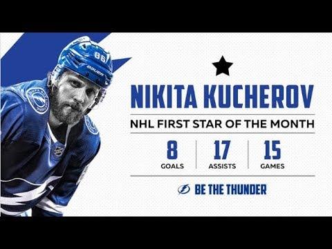Кучеров лучший игрок НХЛ в феврале!