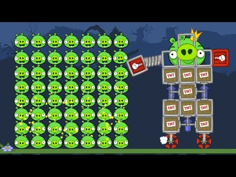 Thumbnail: Bad Piggies - INTERESTING THINGS TO DO WITH 100 PIGGIES!!