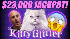 $23,000 Jackpot! | 30 FREE Games | Kitty Glitter Slots | The Big Jackpot