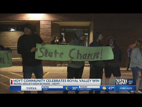 Royal Valley High School celebrates first ever state title