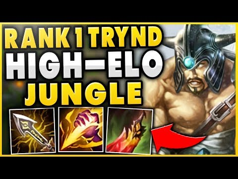 #1 TRYNDAMERE WORLD CARRIES HIGH-ELO WITH TRYND JUNGLE?!? IS THIS ACTUALLY OP? - League of Legends