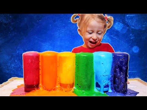 SUPER! Deciji EKSPERIMENT: Erupcija raznobojne LAVE u casama EXPERIMENTO para niños: Erupción Espuma