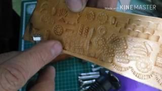 Оттиски самодельных штампов, инструмент для тиснения кожи.