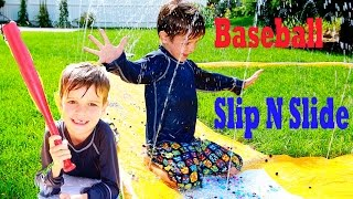 Worlds BEST Slip N Slide Baseball Orbeez Super Fun WATER Park Pool Party Toy Game