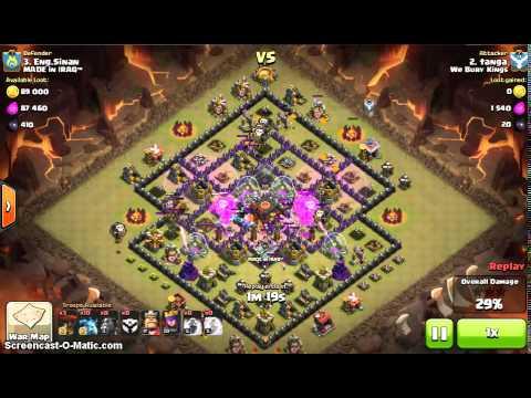 Quatro Lavaloonion | TH10 | 3 Star War Attack | Clash of Clans