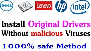 How to install Dell HP original drivers on Computer/Laptop without virus
