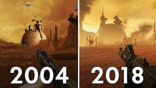 Geonosis Battlefront (2004) vs Battlefront II (2018) Graphics Comparison