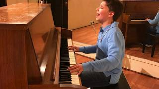 11 Year Old Joshua Turchin sings Everything Stays From Adventure Time