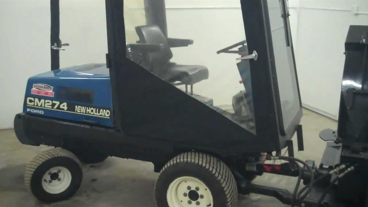 SOLD! Janesville MN. New Holland Commerial Mower & Snowblower sel Cab on