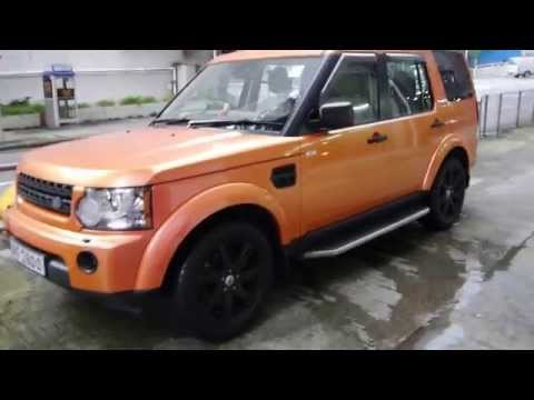 Chameleon Land Rover Discovery 4 by Wrap Workz Hong Kong(Gloss Orange Pink Yellow)