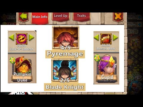 Rolling Traits For Cupid & Pumpkin Duke For Archdemon Castle Clash
