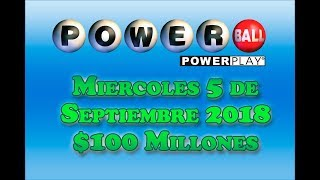 Gambar cover Resultados Powerball 4 de Septiembre 2018 $100 Millones de dolares Powerball en Español