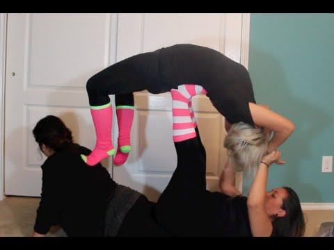 Sister Yoga Challenge! We Nailed It!