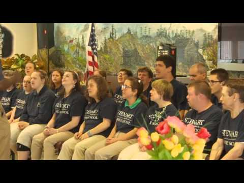 Stewart Home School Sings For Senior Center