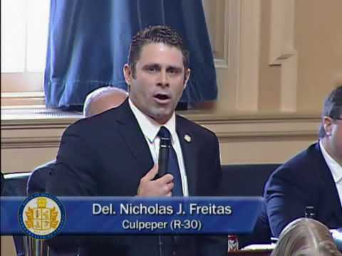 2018 03 02 Delegate Nick Freitas Speech on Floor of House of Delegates