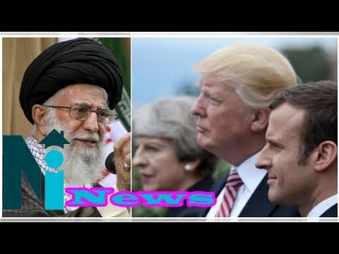 Syrian bomb strike: Iran's leader labels Trump, May, Macron 'criminals'