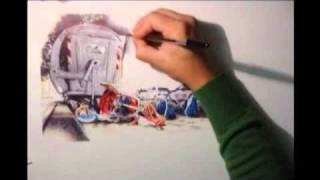 disegno con penne colorate- Paolo Amico- Futuro incerto