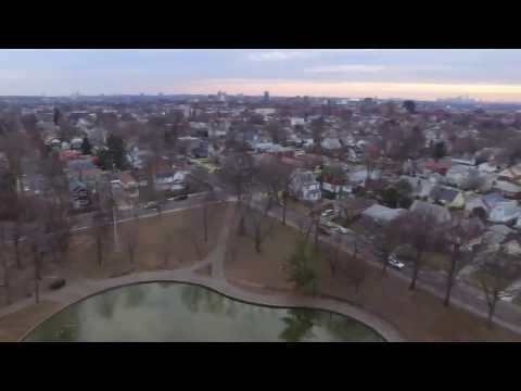 birds eye view of park in bayside queens nyc new york