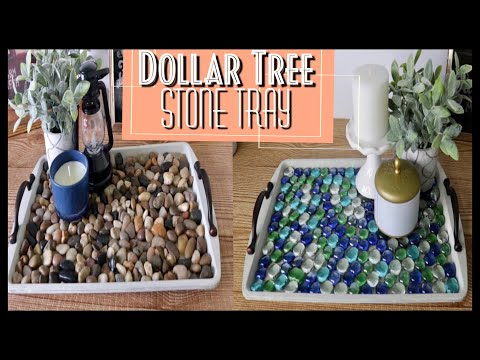 Dollar Tree DIY Mosaic Stone Serving Tray